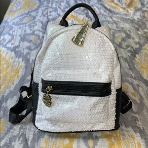 Betsey Johnson sequin Unicorn mini backpack